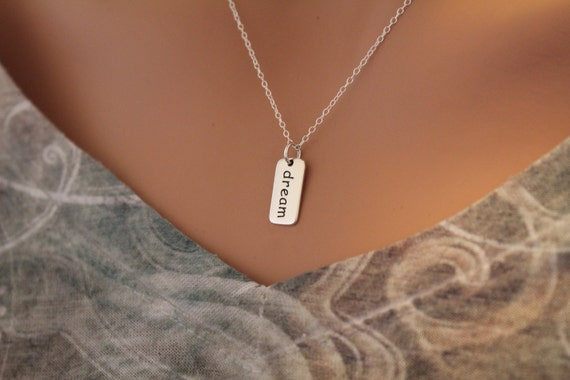 Graduation gift. Teen/'s or Woman/'s key and live your dream charm pendant in sterling silver on an 18 sterling silver cable chain Girl/'s