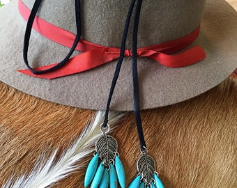 Lariat Necklace, Turquoise Lariat Necklace, Affordable Necklace