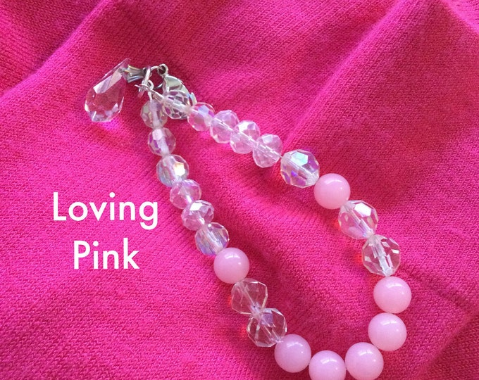 Pink Crystal Bracelet. VS Pink