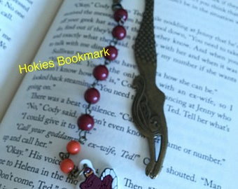 Bookmarks, Hokies Gifts, One of a Kind, Hokies Bookmark, Mermaid Bookmark, Teachers Gift, Va Tech gifts
