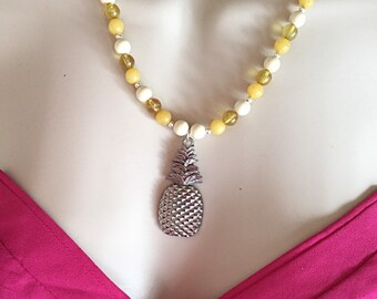 Pineapple Necklace, Pinapple Pendent Necklace