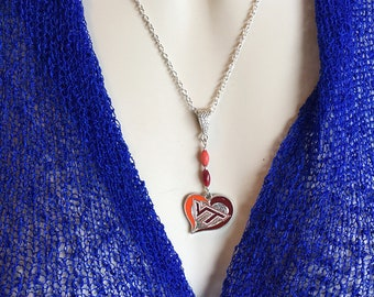 Hokies Necklace, Virginia Tech Necklace, Hokies Necklace, One of a Kind