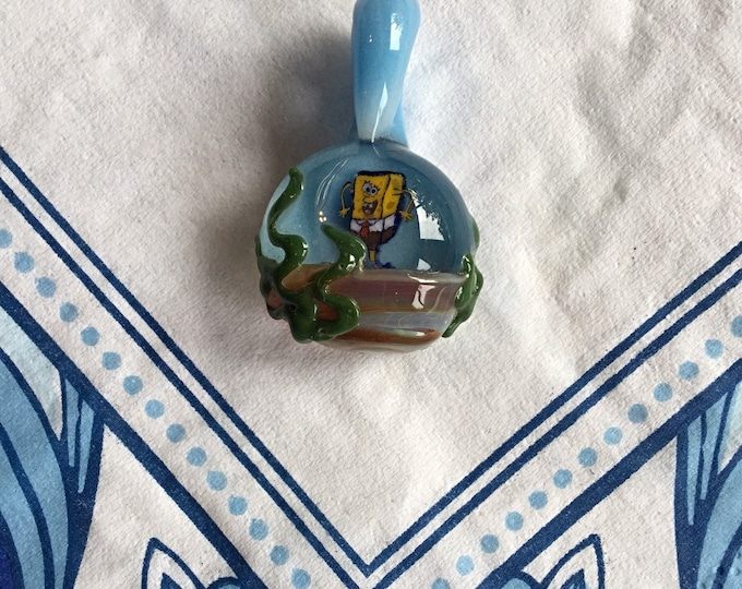 SpongeBob SquarePants Pendant, Rare Handblown Glass