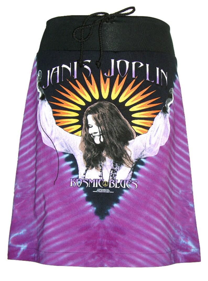 Janis Joplin Kozmic Blues Tie Dye Aline Drawstring Skirt