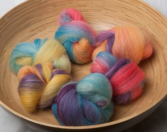 Deconstructed Rainbow Battlings suitable for spinning or felting (#160071)