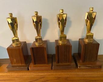 Vintage Metal Plow Trophy Figure