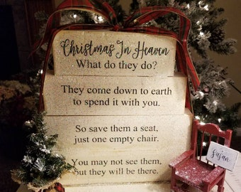 image about My First Christmas in Heaven Poem Printable named Vacant chair poem Etsy