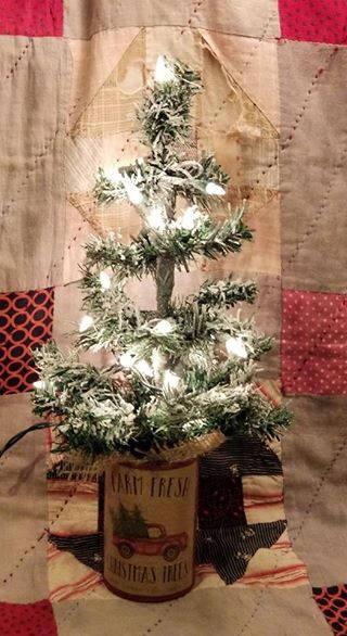 16 flocked primitive christmas tree sale - Primitive Christmas Trees