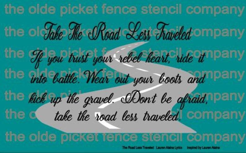 Take The Road Less Traveled ***STENCIL*** Inspired by Lauren Alaina Lauren Alaina Lyrics