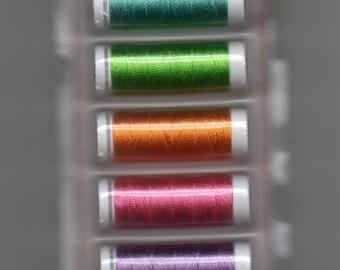 Singer Rayon Thread - Brights - 6 Spools 30 Yds each - Item 60639