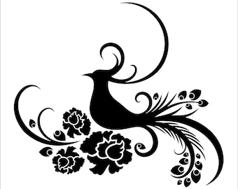 Pheasant Bird Reusable STENCIL Design Availabe In 6 Sizes Create Cottage Signs Pillows And Unique Furniture