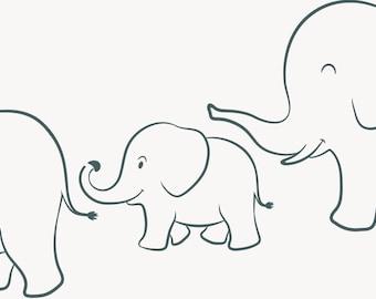 photo regarding Printable Elephant Stencil called Nursery stencil Etsy