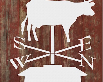 Weather Vane Cow 225-A192 Cake Topper
