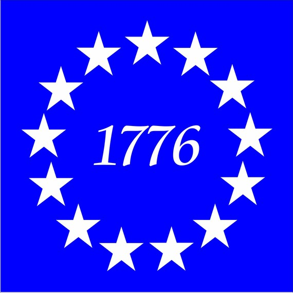 Us Flag Stars 1776 Reusable Stencil Available In 8 Sizes Etsy