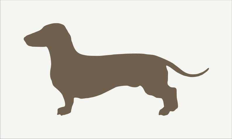 Dachshund dog wall art stencil,Strong,Reusable,Recyclable