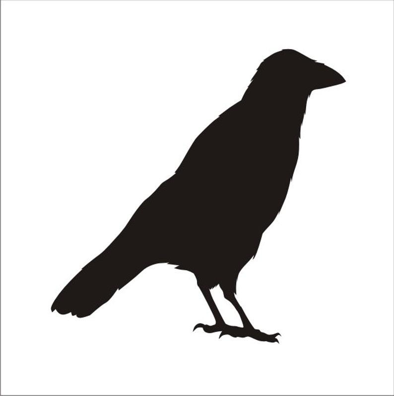 Crow Stencil Decor Halloween Decoration Stencils Crafts Reusable Window Display