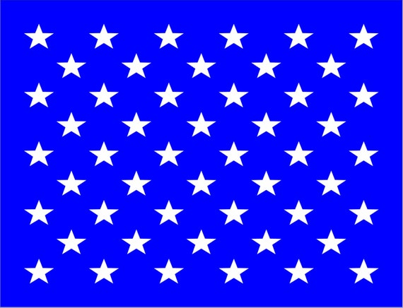 50 Stars Us Flag Reusable Stencil Available In 22 Sizes Etsy