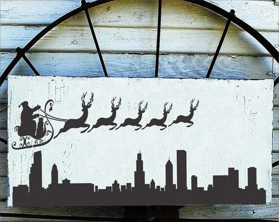 Durable /& Reusable Mylar Stencils Chicago Skyline Stencil