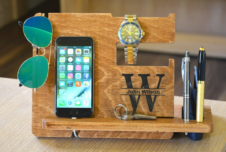 de75fd88cc8d Wood docking station Personalized men gift Gifts For Men