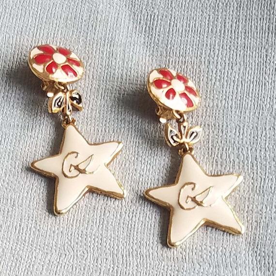 CHRISTIAN LACROIX earrings, vintage enamelled - image 5
