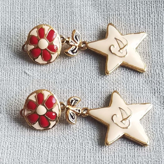 CHRISTIAN LACROIX earrings, vintage enamelled - image 8