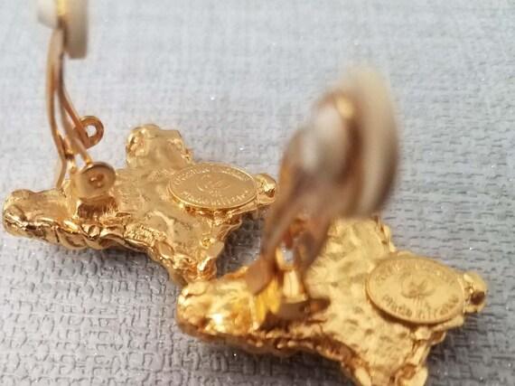 Earrings CHRISTIAN LACROIX, enamel cross - image 4