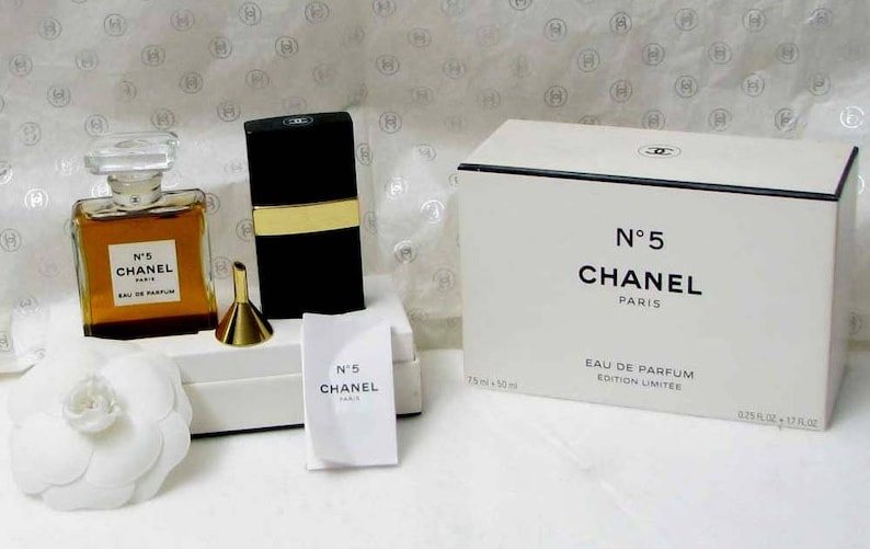 Chanel Perfume A Limited Edition Of The Number 5 With A Spray Etsy