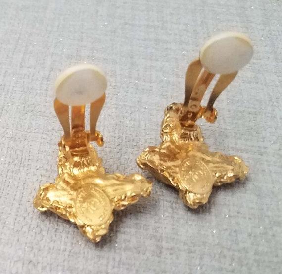 Earrings CHRISTIAN LACROIX, enamel cross - image 3