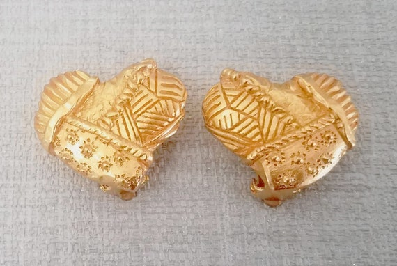 CHRISTIAN LACROIX earrings, heart shaped
