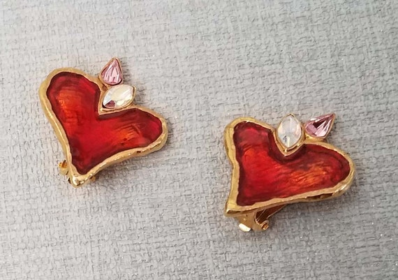 CHRISTIAN LACROIX earrings, vintage enamelled - image 2