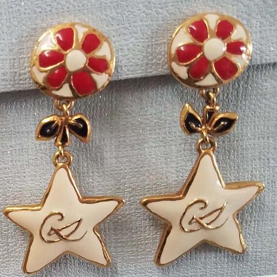 CHRISTIAN LACROIX earrings, vintage enamelled - image 2