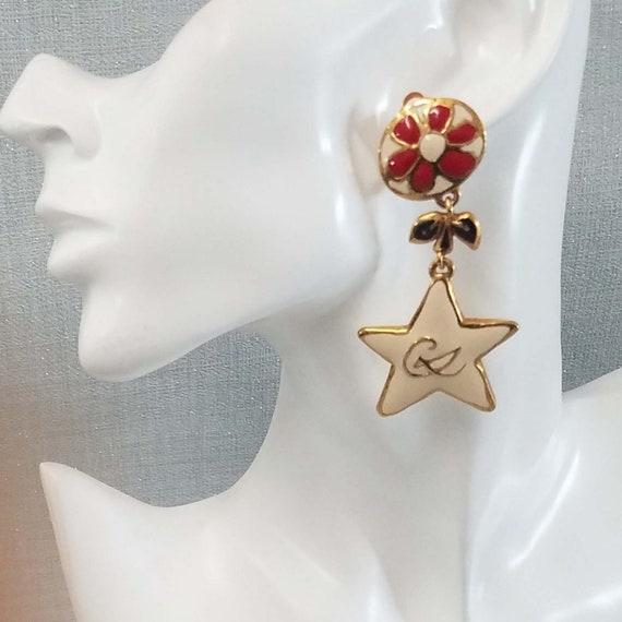 CHRISTIAN LACROIX earrings, vintage enamelled - image 9