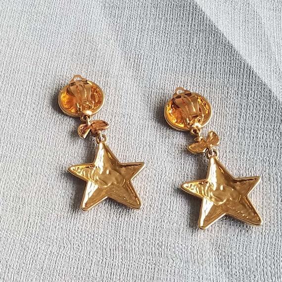 CHRISTIAN LACROIX earrings, vintage enamelled - image 4