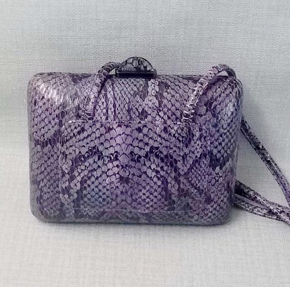 EVENING bag CHARLES JOURDAN, in vintage python cir