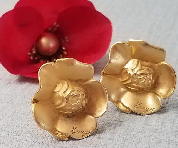 KENZO earrings, flower