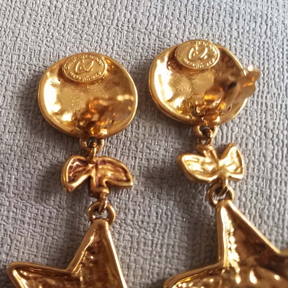 CHRISTIAN LACROIX earrings, vintage enamelled - image 7
