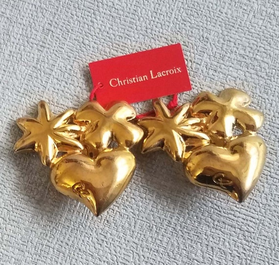 CHRISTIAN LACROIX vintage clip earrings - image 1