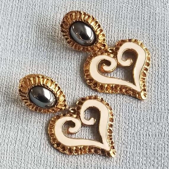 CHRISTIAN LACROIX earrings, long enamelled