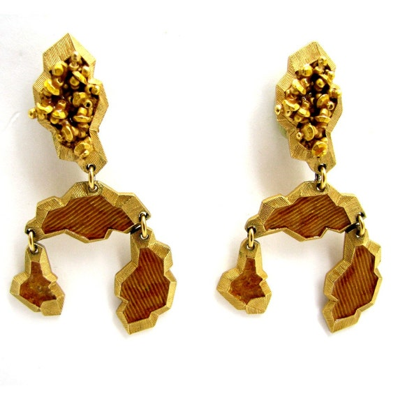 MONTANA earrings, enamelled Baroque