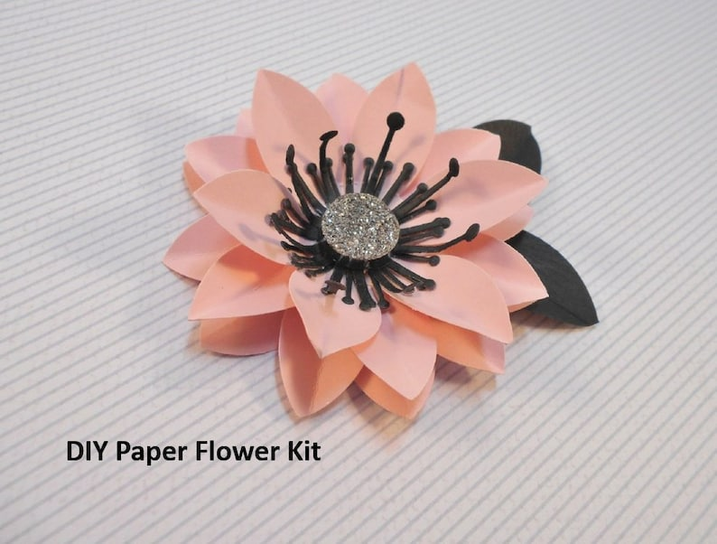Easy Paper Flower Kit Pre Cut 3 Inch 3d Pink Flowers Make Your Own Paper Flowers Diy Flowers Kid Friendly Craft Kit Party Decorations