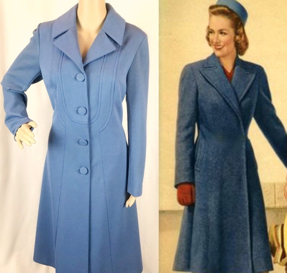 Vintage 1970s does 40s Air force Blue Reefer style