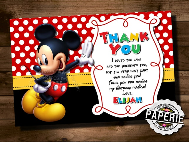 Mickey Mouse Birthday Invitation Mickey Mouse Clubhouse Invite