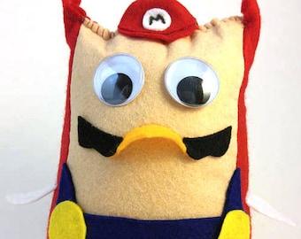 Mario Bros. Owls - Mario Plush Stuffie Doll