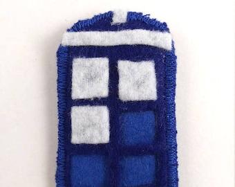 Dr Who TARDIS Logo Badge Pin Button Patch