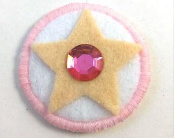 Steven Universe Crystal Gem Rose Quartz Badge Pin Button Patch