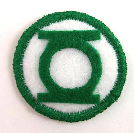 Dc Comics The Green Lantern Logo Badge Pin Button Patch Etsy
