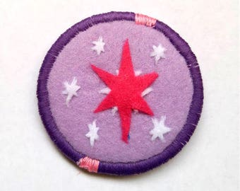 Twilight Sparkle Cutie Mark My Little Pony Friendship is Magic Badge Pin Patch