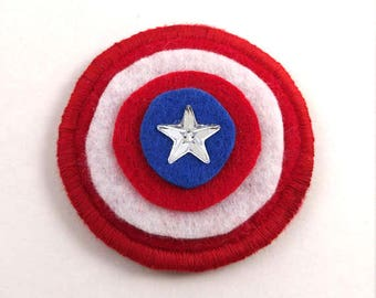 America Shield Logo Badge Pin Button Patch
