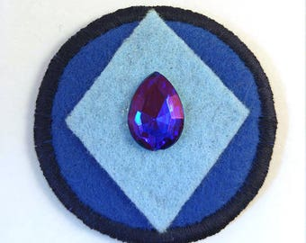 Steven Universe Crystal Gem Lapis Lazuli Badge Pin Button Patch