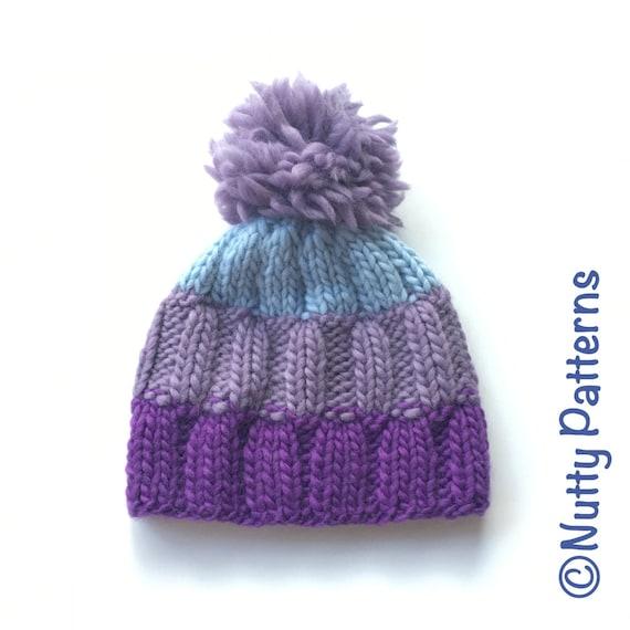 Knitting Pattern Ray Hat Beanie Straight needle | Etsy
